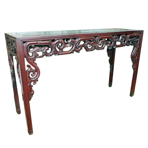 Large Chinese alter table with fine quality carving in hanghaulwood.