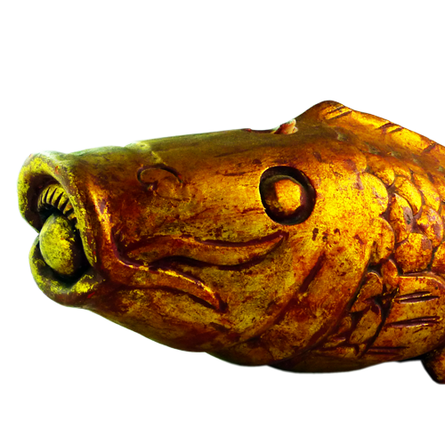 Pair of gold painted/gilded carved fish