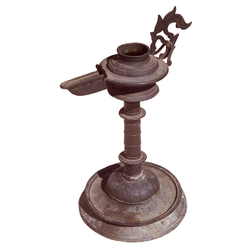Achenese bronze oil lamp