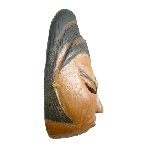 Brown faced Indramayu village mask