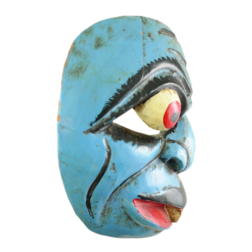 Java blue grotesque mask