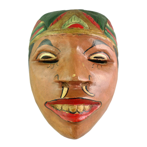 Crudely carved Cirebon village mask