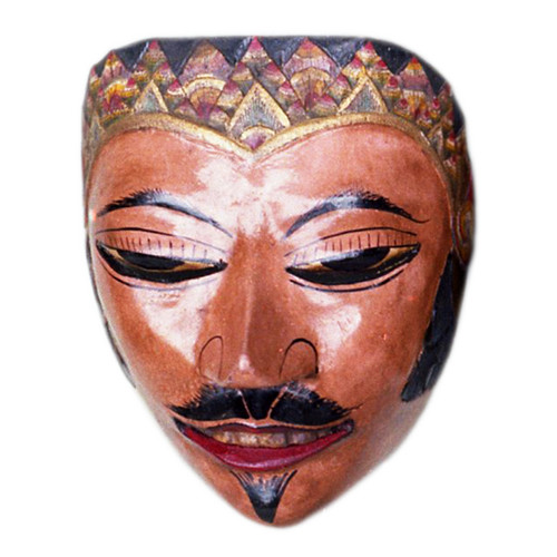 Cirebon Java mask with Solo style tiara