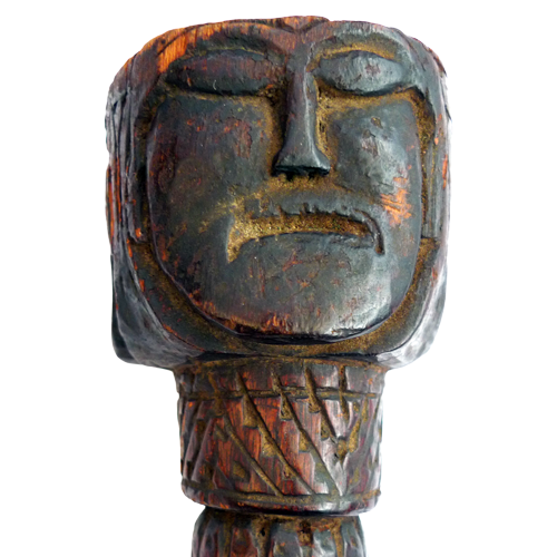 Three face Nepalese ritual phurba or dagger