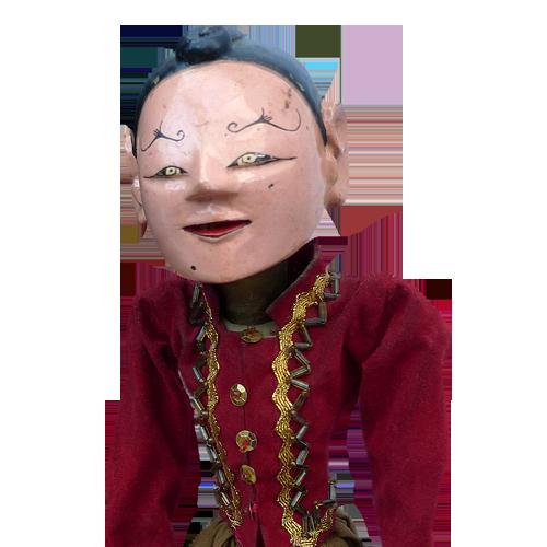 Javanese wooden rod puppet or Wayang Golek