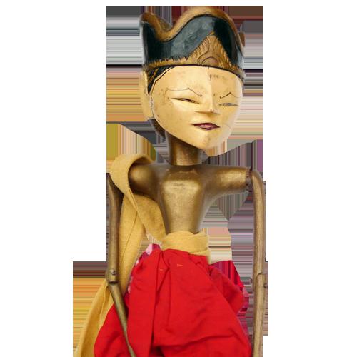 Javanese wooden rod puppet (Wayang Golek)