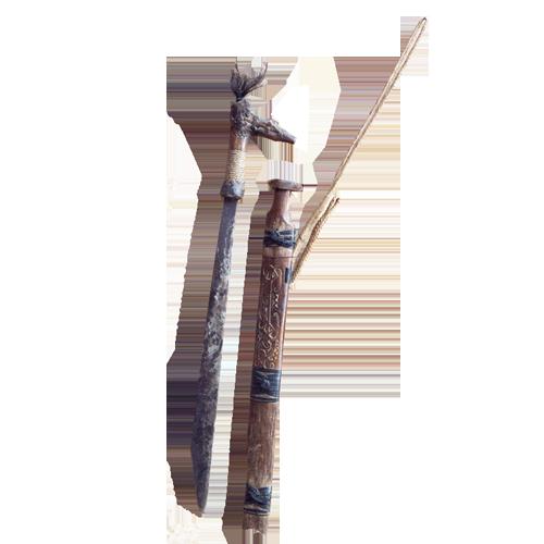 Kalimantan tribal knife or Mandau