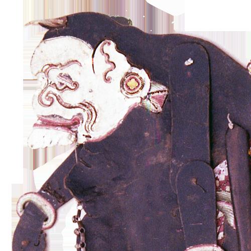 Javanese buffalo hide shadow puppet or Wayang Kulit