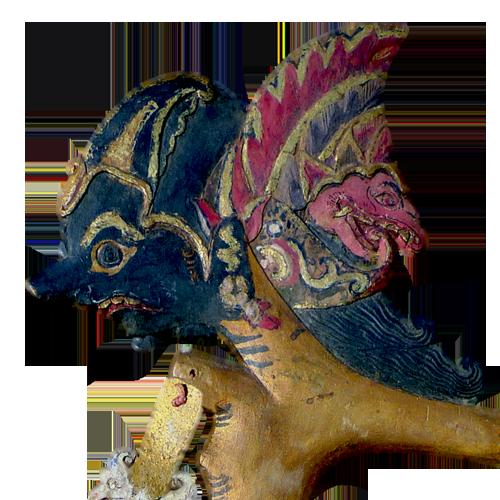 Javanese wooden shadow puppet or Wayang Klitik - Bima