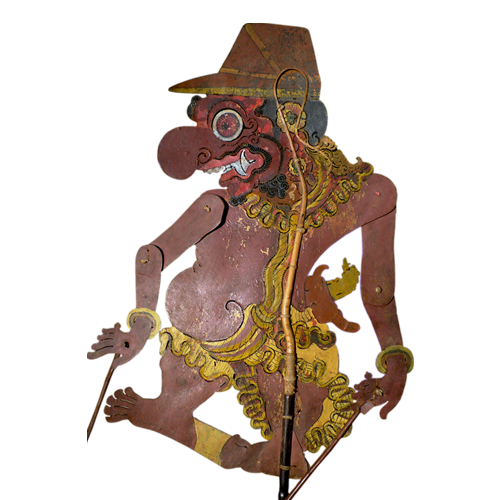 Javanese buffalo hide shadow puppet or Wayang Kulit - Butu