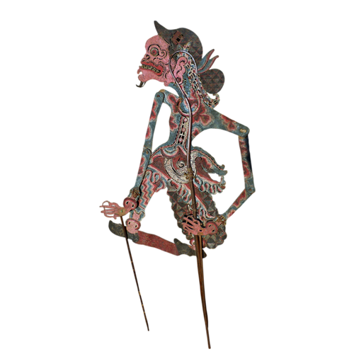 Javanese buffalo hide shadow puppet or Wayang Kulit - Character Unknown