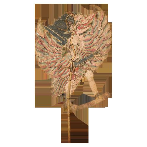Javanese buffalo hide shadow puppet or Wayang Kulit - Garuda